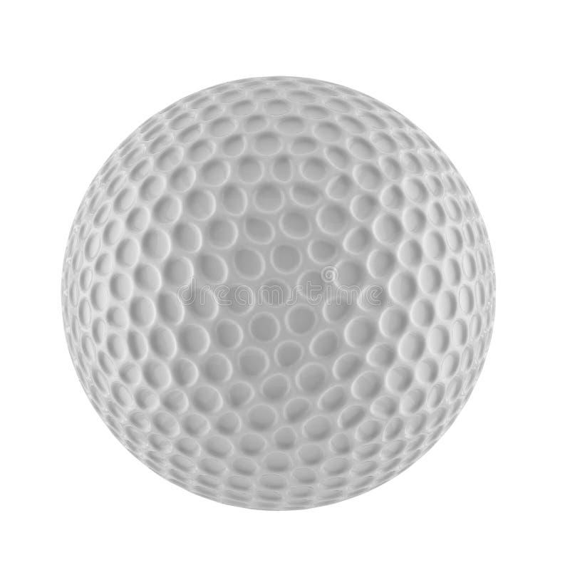 representación 3D de la pelota de golf fotografía de archivo