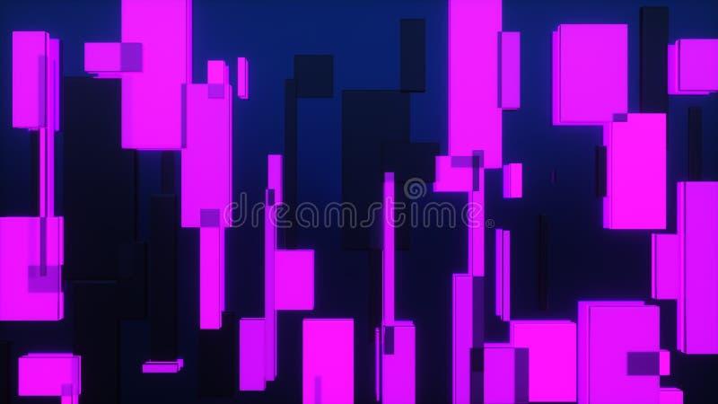 representación 3d de los rectángulos de la difusión libre illustration
