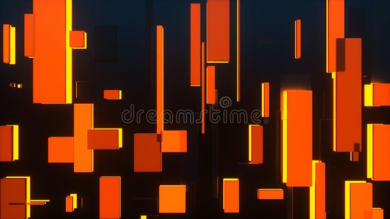 representación 3d de los rectángulos de la difusión stock de ilustración