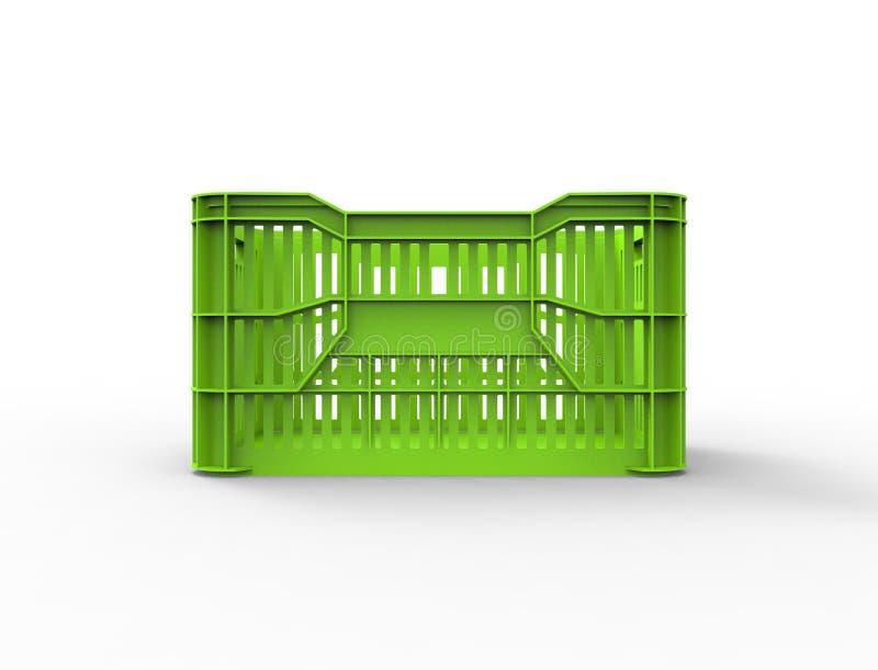 representación 3d de un cajón plástico apilable del almacenamiento aislado en el fondo blanco ilustración del vector