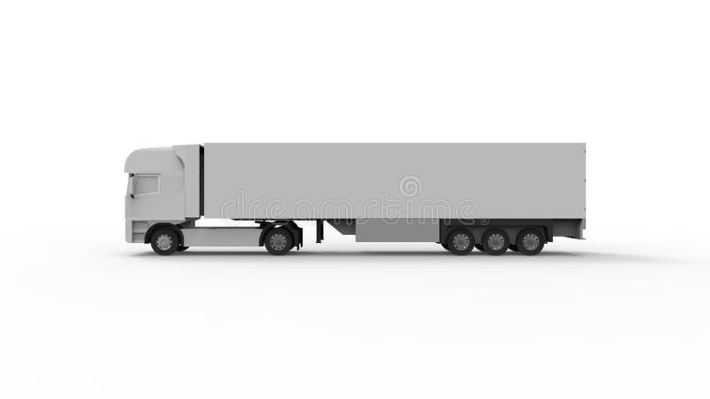 representación 3d de un camión del cargo aislado en el fondo blanco ilustración del vector