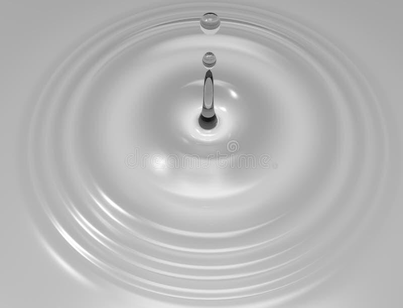 representación 3d de un descenso del agua aislada en fondo del estudio ilustración del vector
