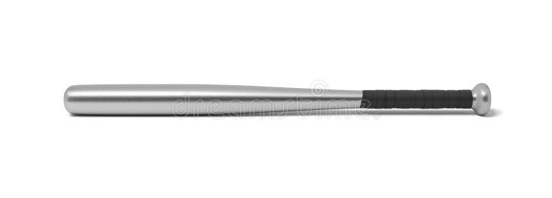 representación 3d de un solo bate de béisbol del metal con una manija envuelta aislada en un fondo blanco libre illustration
