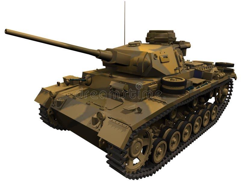 representación 3d de un tanque alemán de Panzer 3 stock de ilustración