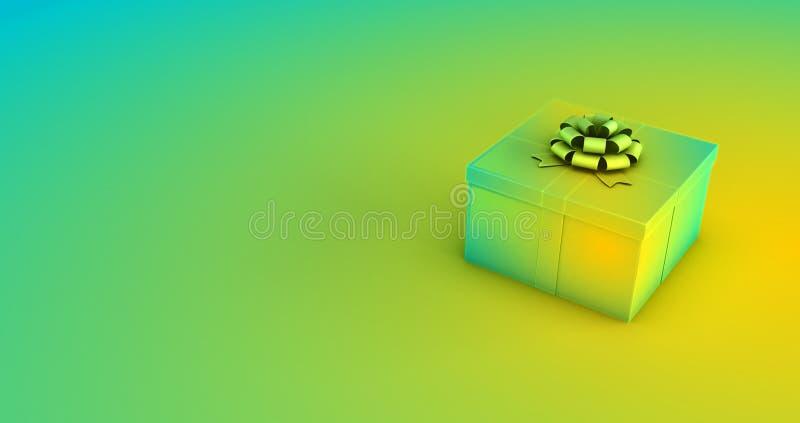 representación 3d de una caja de regalo en fondo coloreado libre illustration