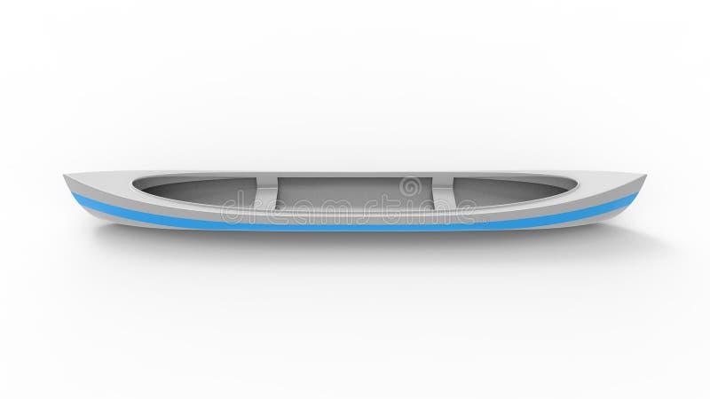representación 3d de una canoa aislada en el fondo blanco del estudio libre illustration