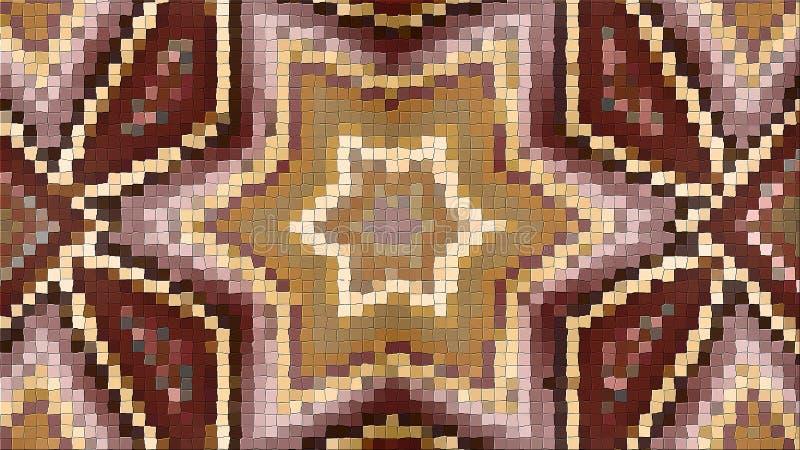representación 3d de una imagen abstracta de un mosaico Composición brillante de modelos simétricos libre illustration