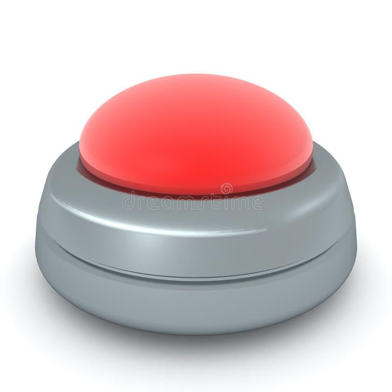representación 3D del botón rojo grande libre illustration