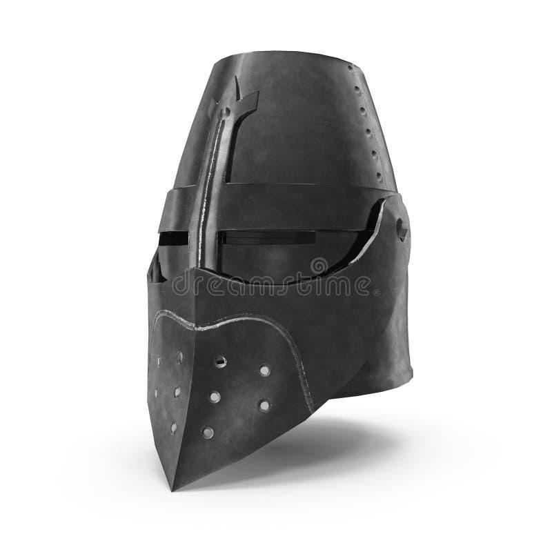 representación 3D del casco francés medieval stock de ilustración