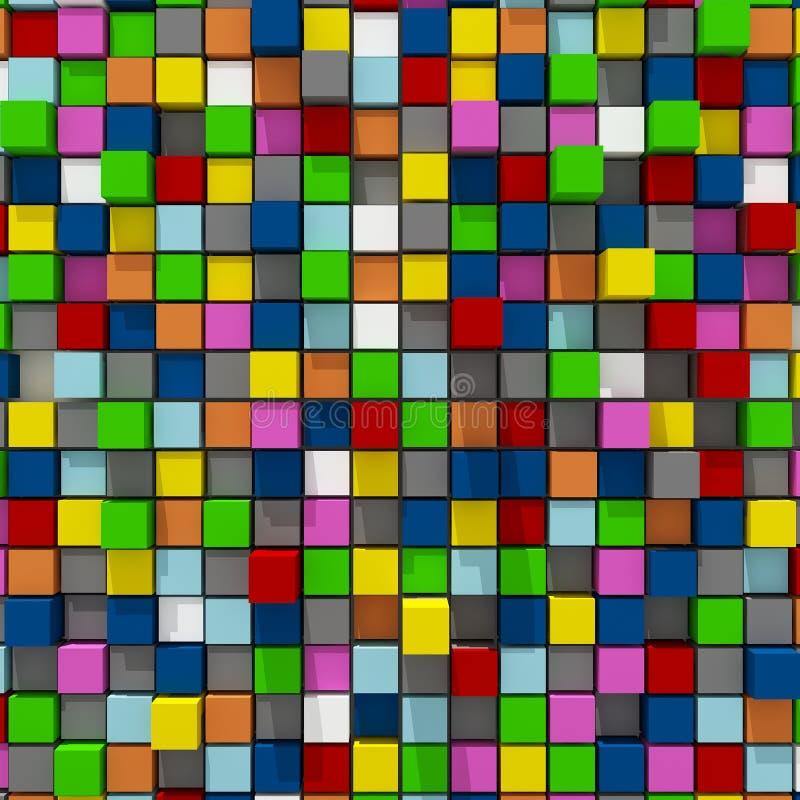 representación 3d del fondo llano al azar cúbico colorido libre illustration