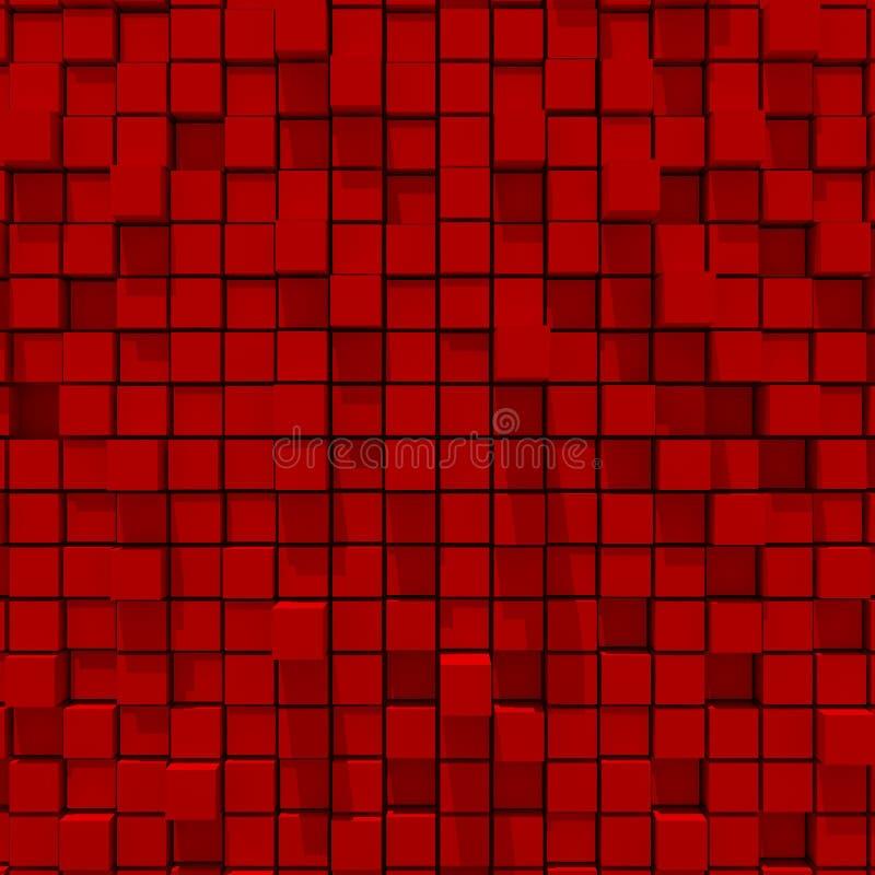 representación 3d del fondo llano al azar cúbico rojo libre illustration