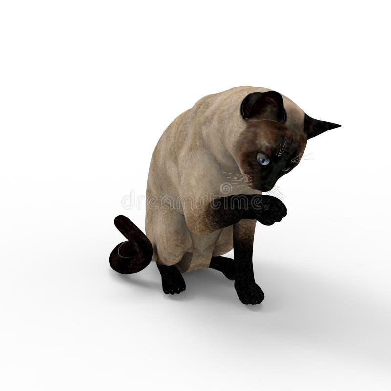 representación 3d del gato creada usando una herramienta de la licuadora stock de ilustración