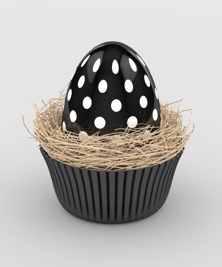 representación 3d del huevo de Pascua en jerarquía del mollete ilustración del vector