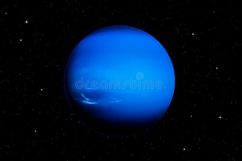 representación 3d del planeta de Neptuno ilustración del vector
