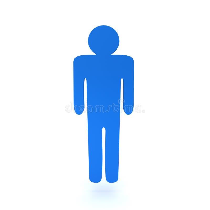 representación 3D del símbolo masculino del silouette libre illustration