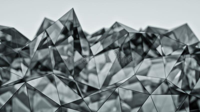 Representación de cristal moderna poligonal de la forma 3D con el DOF ilustración del vector