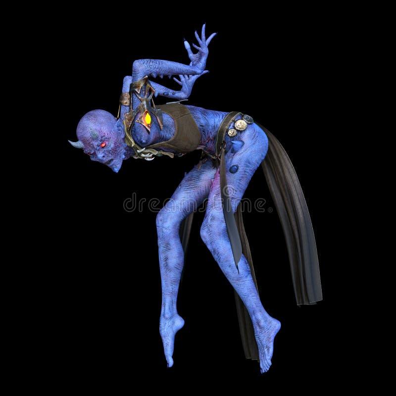 representación de 3D CG del bailarín del diablo stock de ilustración