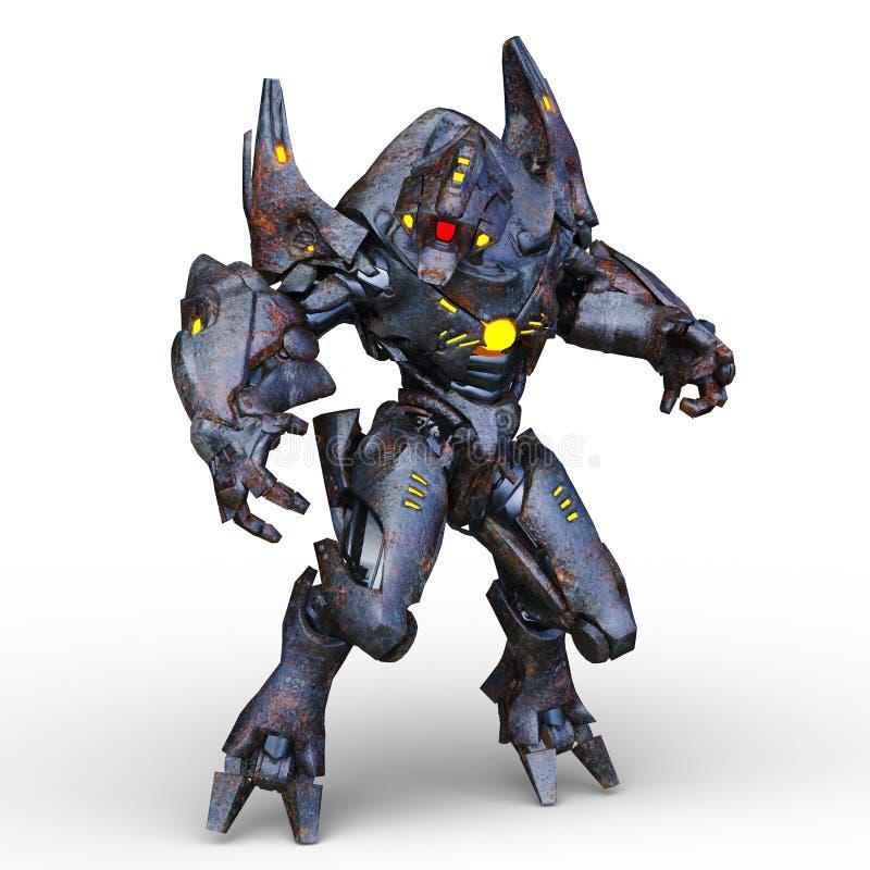 representación de 3D CG del Humanoid ilustración del vector