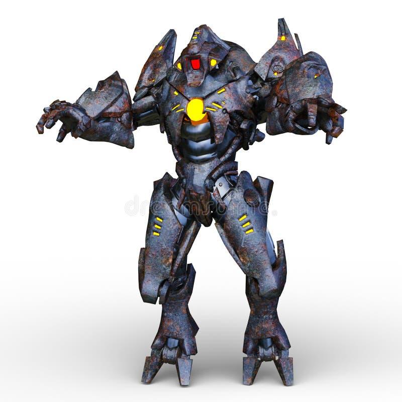 representación de 3D CG del Humanoid stock de ilustración