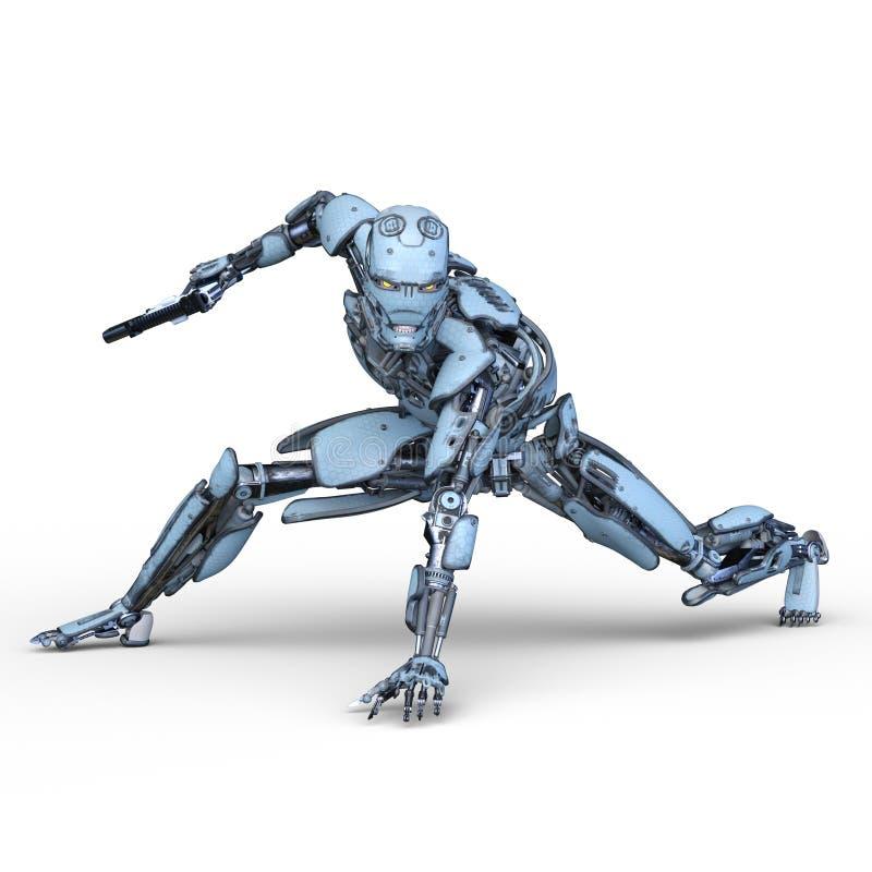representación de 3D CG del robot ilustración del vector
