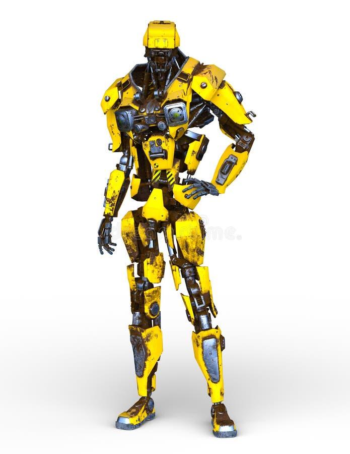 representación de 3D CG del robot stock de ilustración
