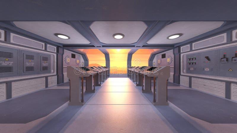 representación de 3D CG de la estación espacial ilustración del vector