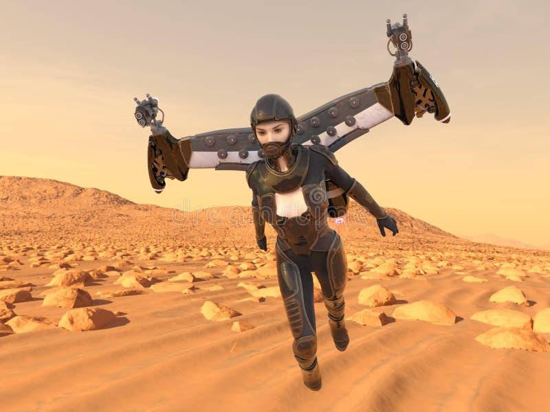 representación de 3D CG de la mujer activa ilustración del vector