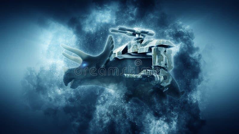 Representación de Dinosuar 3D ilustración del vector