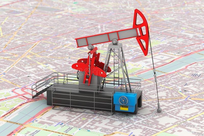 Representación de Jack Oil Crane 3d de la bomba imagen de archivo libre de regalías