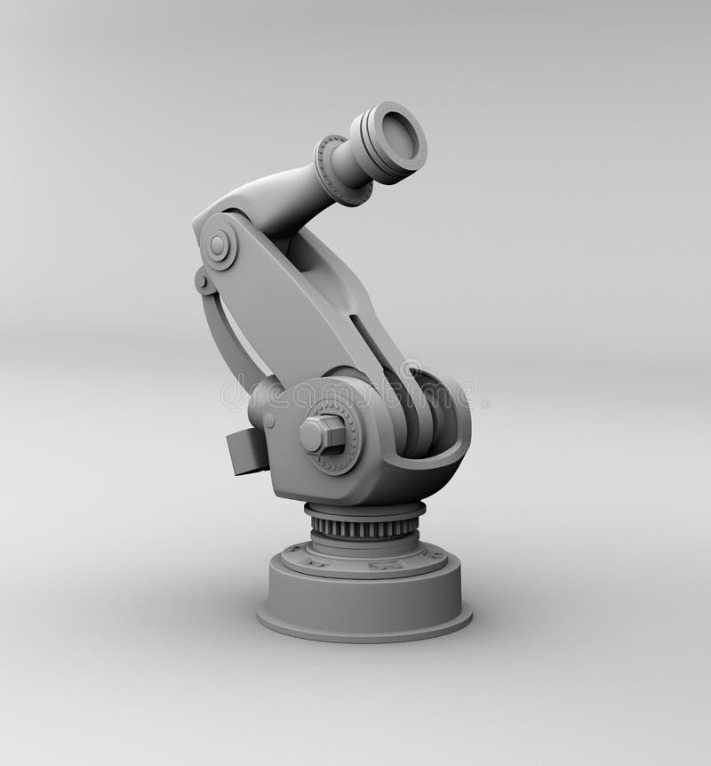 Representación de la arcilla del brazo robótico pesado foto de archivo libre de regalías