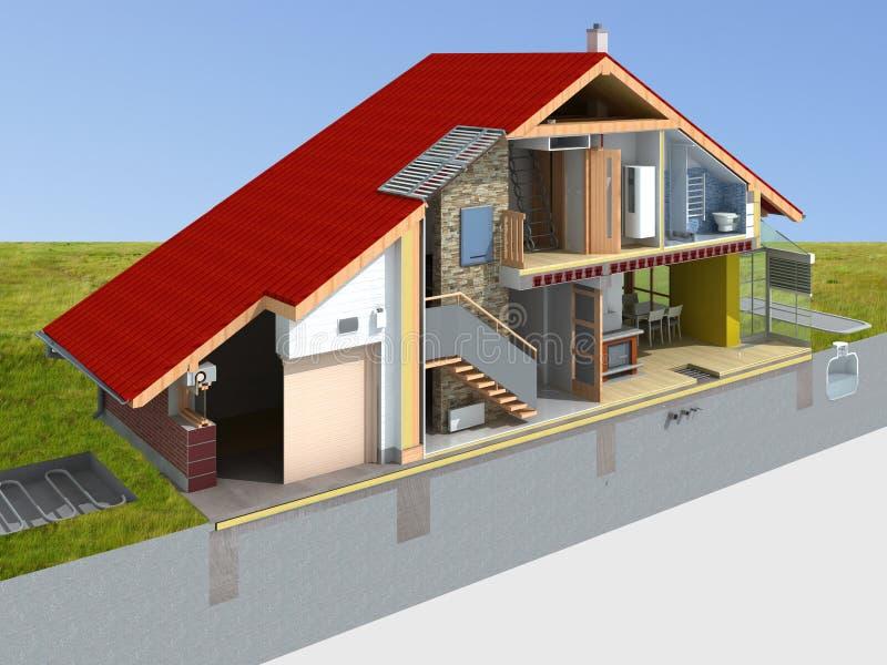 Representación de la casa en la sección ilustración del vector