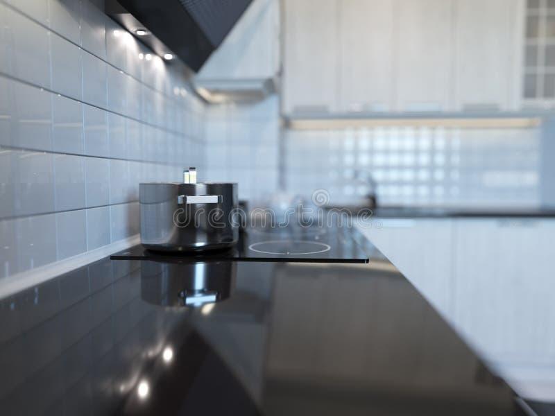 Representación de la cocina 3d stock de ilustración