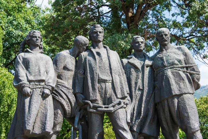 Representación de la esclavitud en Bulgaria fotografía de archivo libre de regalías