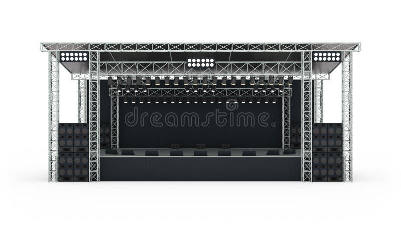Representación de la etapa 3d del concierto del podio imagen de archivo