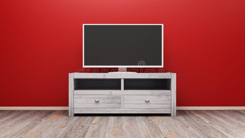 Representación de la exhibición 3D de la TV stock de ilustración