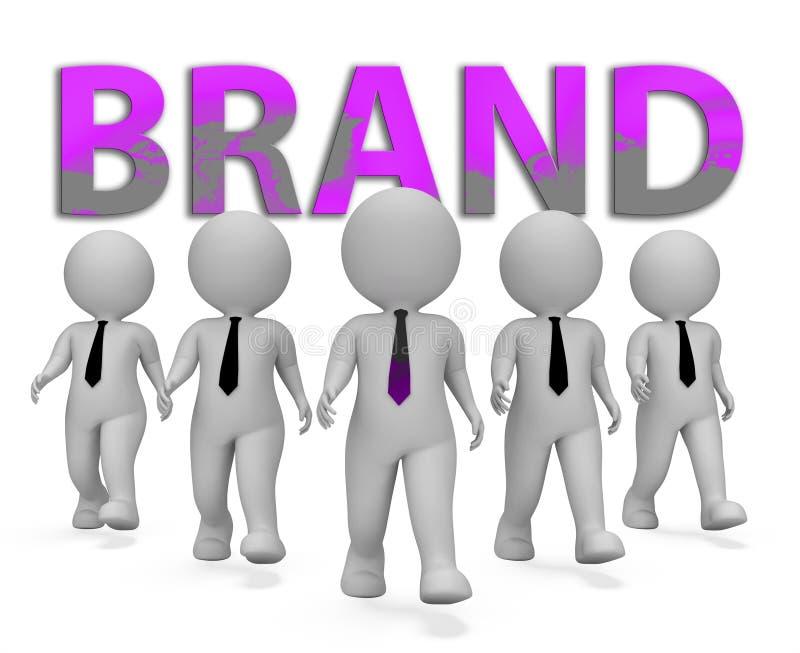 Representación de la identidad 3d de Brand Businessmen Means Company libre illustration