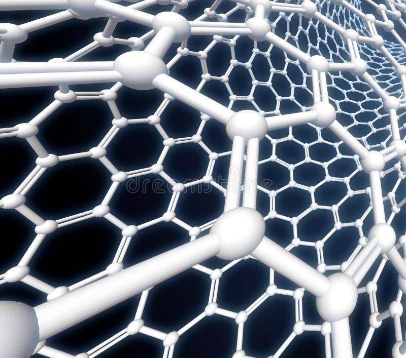 Representación de la molécula 3D de Nanotube libre illustration