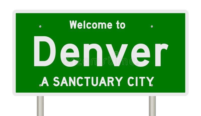 Representación de la muestra de la carretera para la ciudad Denver del santuario libre illustration