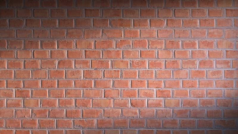 Representación de la pared de ladrillo 3d imagen de archivo libre de regalías