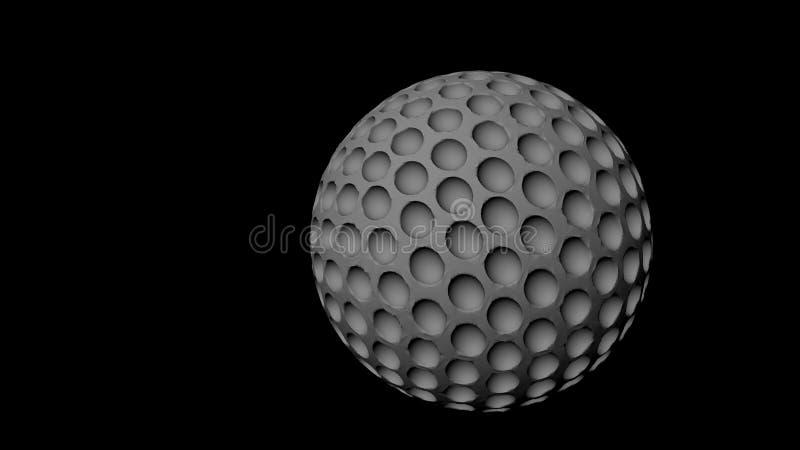 Representación de la pelota de golf 3D ilustración del vector