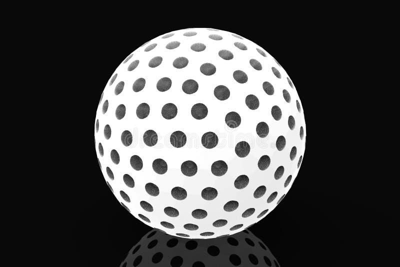 Representación de la pelota de golf 3D stock de ilustración