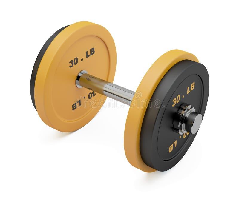 Representación de la pesa de gimnasia imagenes de archivo