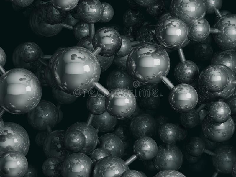 Representación de las moléculas de agua 3D libre illustration