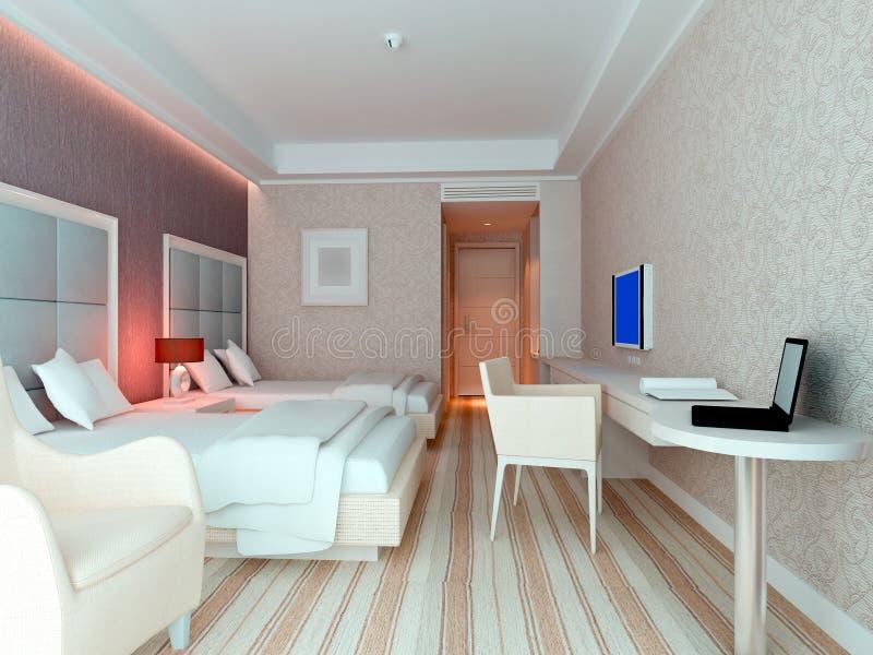 representación del dormitorio 3d, habitaciones libre illustration