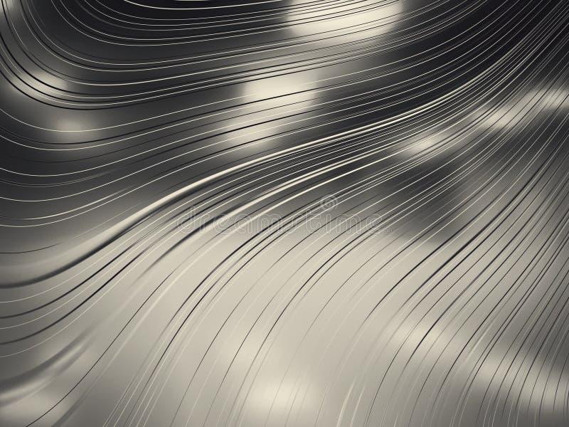 Representación del fondo abstracto del cromo stock de ilustración