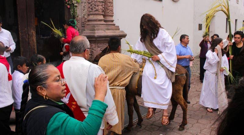 Representación del Jesucristo en una iglesia en México fotos de archivo