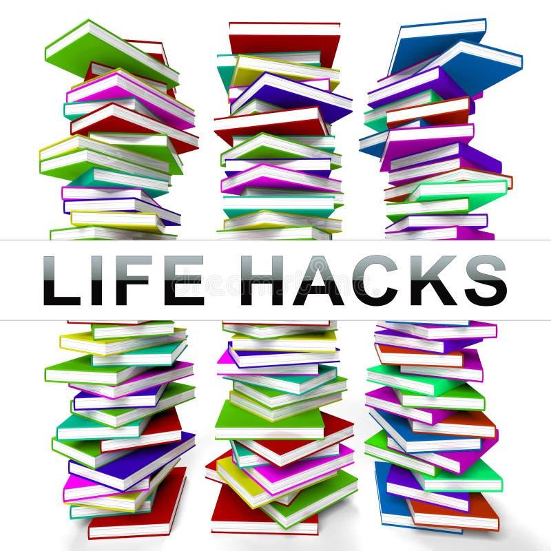 Representación eficiente más elegante secreta de los cortes 3d de Lifehack stock de ilustración