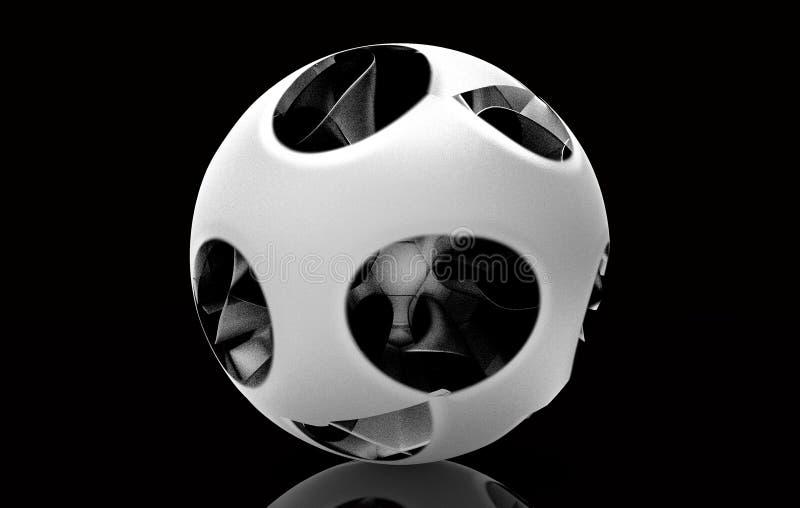 Representación esférica de la bola 3D stock de ilustración