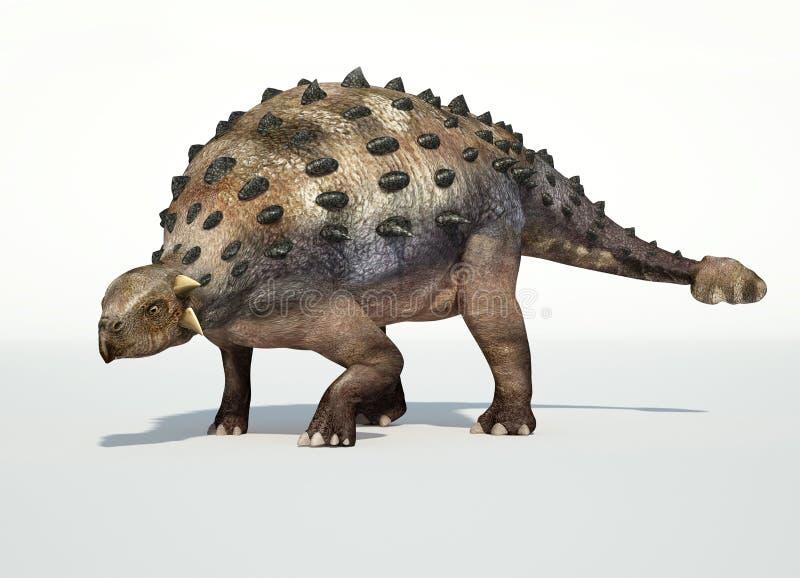 Representación fotorrealista de 3 D de un Ankylosaurus. stock de ilustración