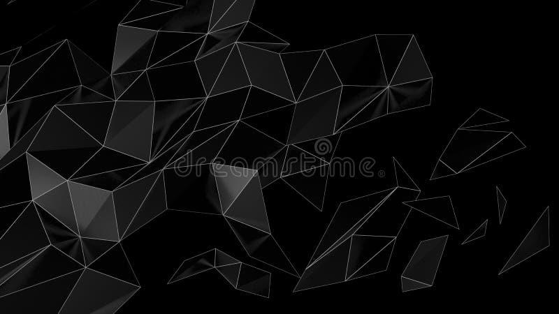 Representación futurista abstracta polivinílica baja 3D fotografía de archivo